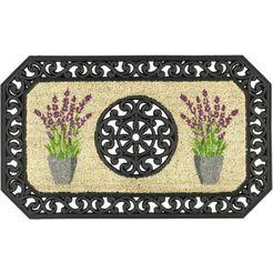 mat, »coco twin 5«, astra, rechthoekig, hoogte 13 mm, geperst zwart