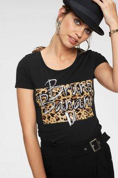 bruno banani shirt met korte mouwen zwart