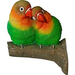 casa collection by jaenig dierfiguur dierfiguur papegaaienpaartje op tak (boombevestiging) multicolor