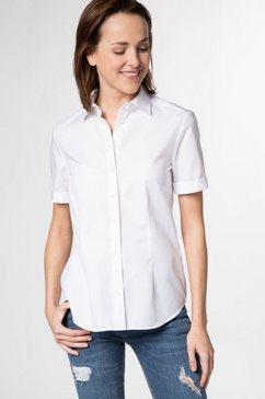 eterna blouse met korte mouwen »modern classic« wit