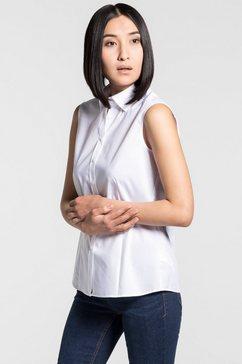 eterna mouwloze blouse »modern classic« wit
