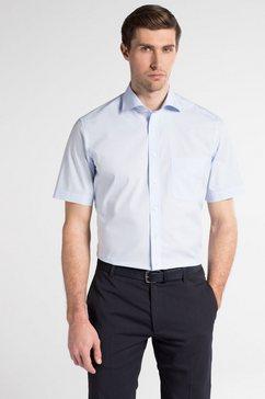 eterna korte arm hemd »modern fit« blauw