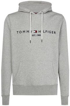 tommy hilfiger hoodie »tommy logo hoody« grijs