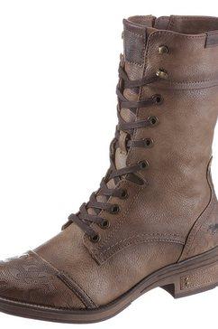 mustang shoes veterlaarzen beige