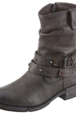 mustang shoes bikerboots grijs