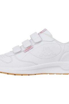 kappa sneakers base vl met drie praktische klittenbandsluitingen wit