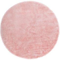 vloerkleed, »lam imitatiebont«, andiamo, rond, hoogte 20 mm, machinaal geweven roze