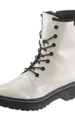 tamaris hoge veterschoenen wit