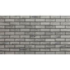 elastolith steenstrips »nebraska«, grau, fuer den aussen- und innenbereich 1 m² grijs