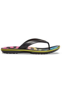 crocs teenslippers »crocband printed flip« zwart