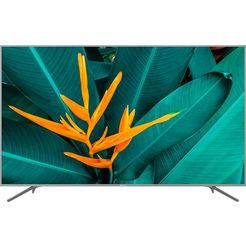 hisense h75be7410 led-tv (189 cm - 75 inch), 4k ultra hd, smart-tv silberfarben