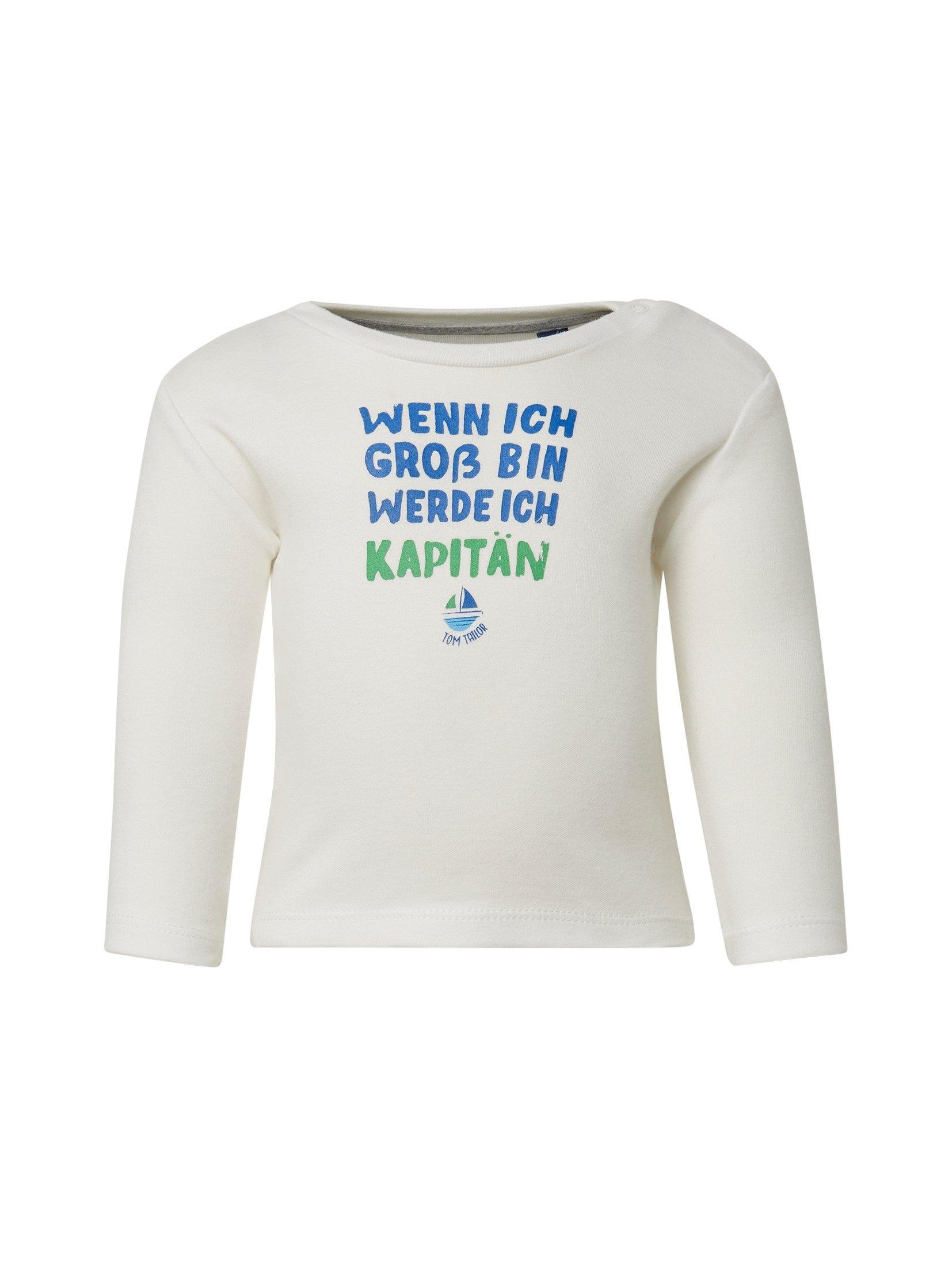 Tom Tailor shirt met lange mouwen »Shirt met lange mouwen en borstprint« - gratis ruilen op otto.nl