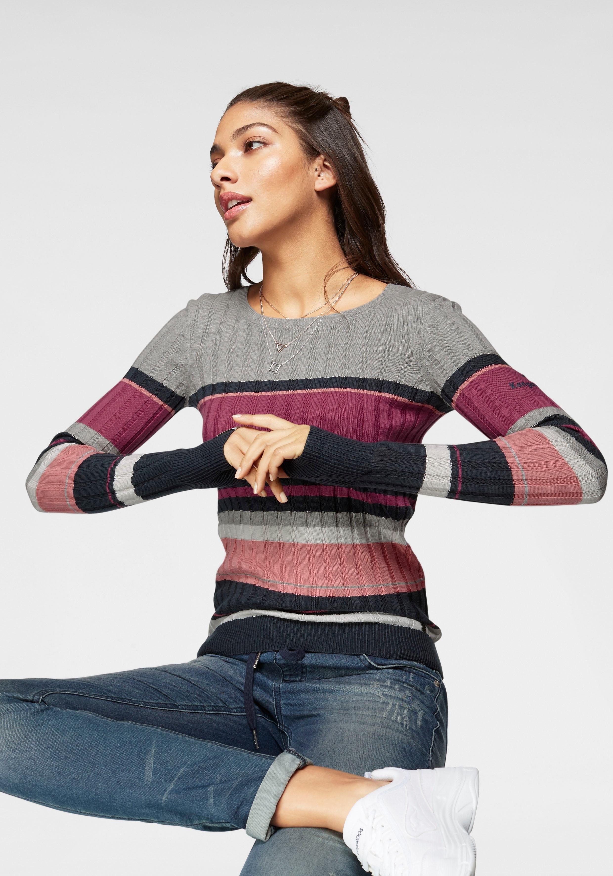 KangaROOS trui met ronde hals nu online kopen bij OTTO