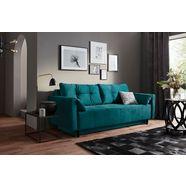 collection ab bedbank inclusief slaapfunctie, bedkist, binnenvering en losse rug- en sierkussens, vrij plaatsbaar groen