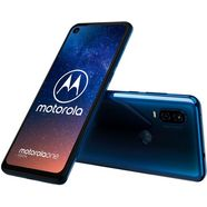 motorola one vision smartphone (16 cm - 6,3 inch, 128 gb, 12mp-camera) blauw