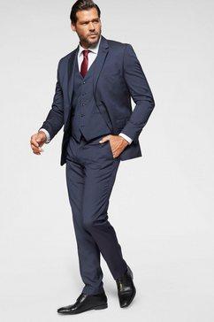 man's world pak (set, 4-delig, met gilet en stropdas) blauw
