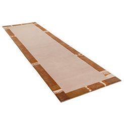 loper, »avanti«, theko, rechthoekig, hoogte 12 mm, met de hand geknoopt beige