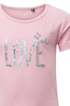 tom tailor shirtblouse »t-shirt met artwork« roze