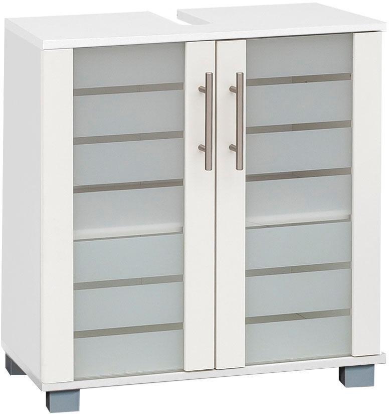 Schildmeyer wastafelonderkast Nikosia Hoogte 64 cm, met glasdeuren, hoogwaardige mdf-fronten, metalen grepen online kopen op otto.nl