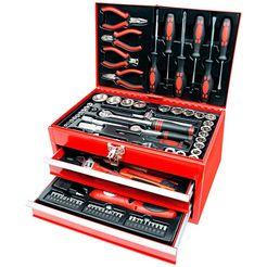 brueder mannesmann werkzeuge gereedschapsbox »155-dlg.« rood