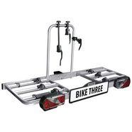 eufab fietsendrager »bike three« zilver