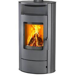 thermia houtkachel »vogknamey«, staal, 7 kw, grijs, duurbrander grijs