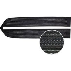 hydas kniebandage met traploos aansluitende klittenbandsluiting zwart