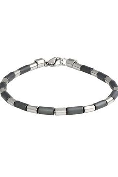 firetti armband »edelstalen draad, staafjes, mat, glanzend« grijs