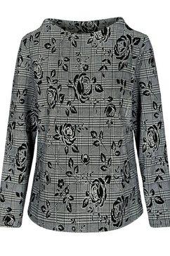 clarina gedessineerde blouse zwart