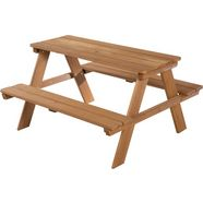 roba kinder-picknickbank »picknick for 4 outdoor deluxe« (set, 1-delig) bruin