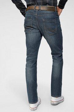 tom tailor 5-pocketsjeans met ritssluiting blauw
