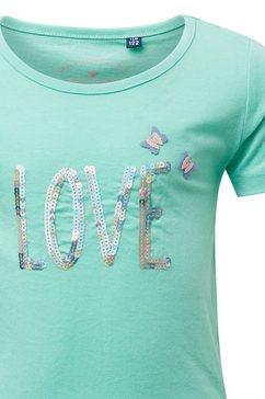 tom tailor shirtblouse »t-shirt met artwork« groen