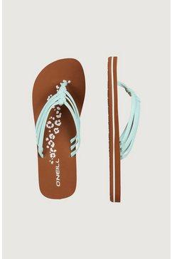 o'neill slippers »fw 3 strap disty« blauw