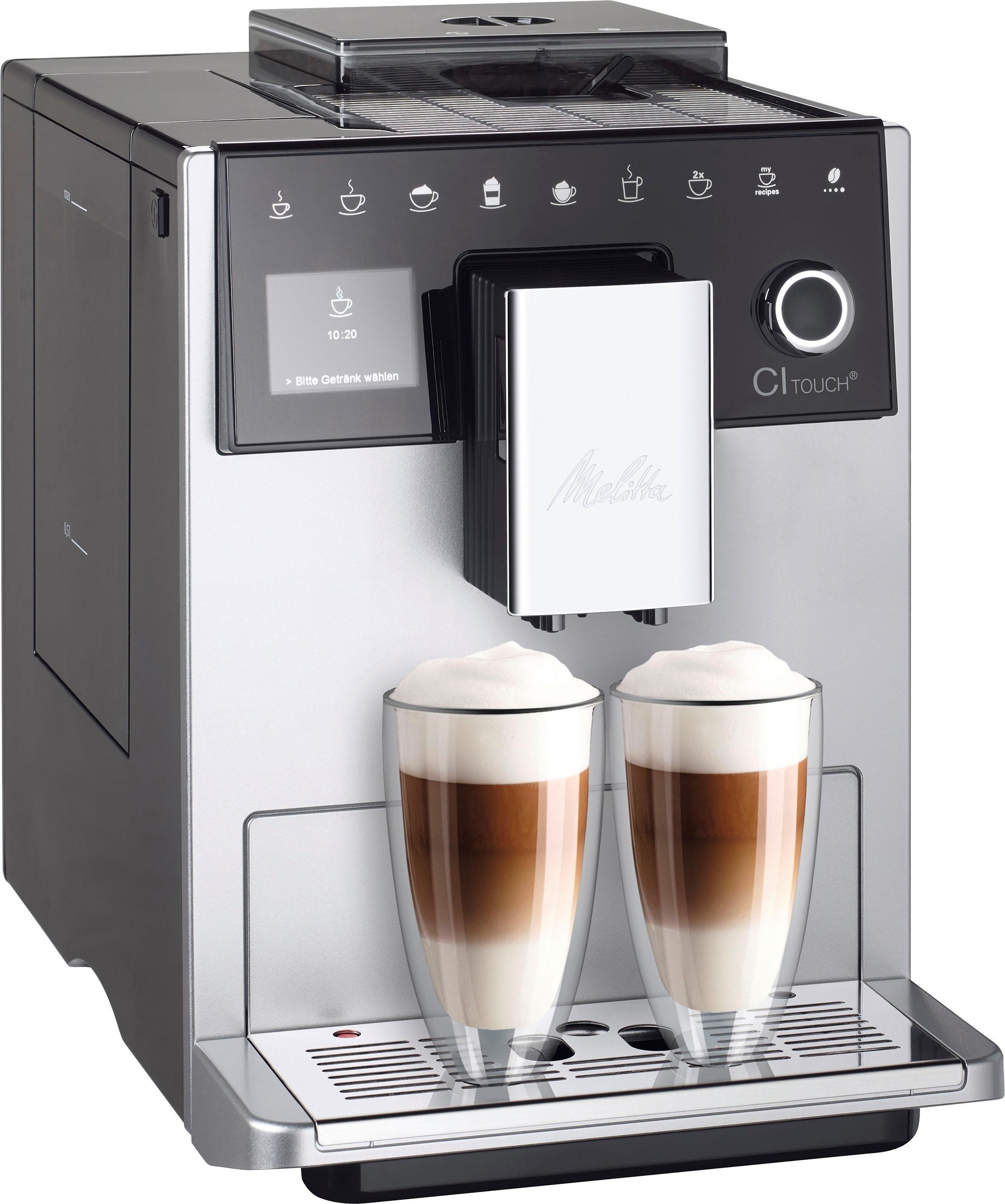 Melitta volautomatisch koffiezetapparaat Melitta® CI Touch® F 630-101, zilver/zwart - verschillende betaalmethodes