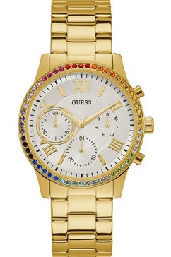 guess multifunctioneel horloge »solar, w1069l6« goud