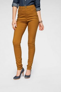 arizona jeggings »in coloured-denim« bruin