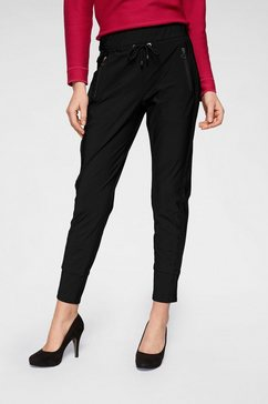 mac jogger pants »easy-galon« zwart