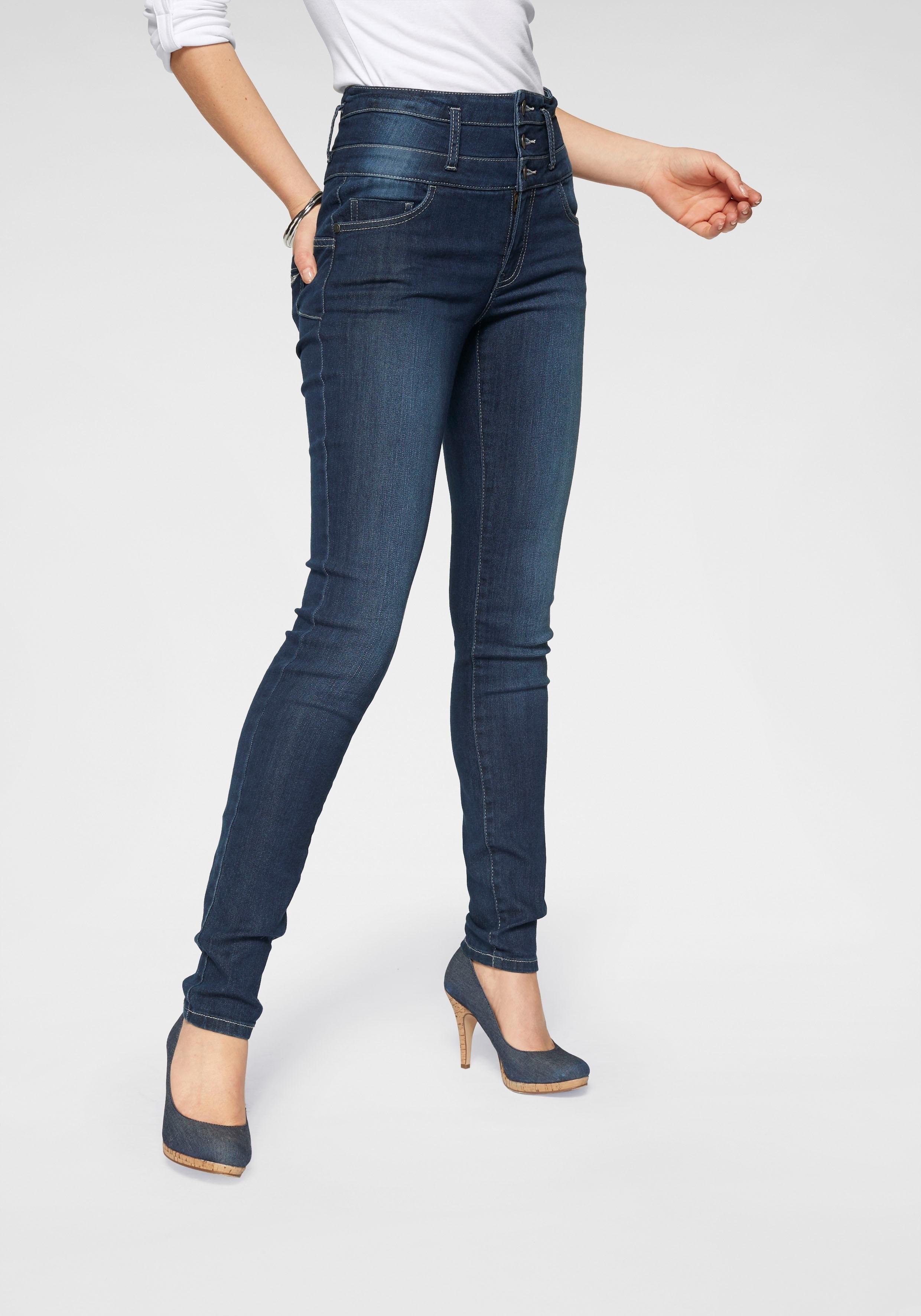 ARIZONA slim fit jeans »met extra brede band« nu online kopen bij OTTO