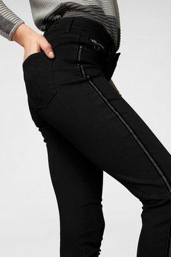 mac ankle jeans »dream slim velvet galloon« zwart