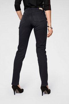 mac straight jeans »angela new« blauw