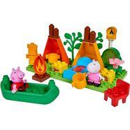 big bouwstenen 'big-bloxx peppa pig camping set', kunststof (25-delig) multicolor
