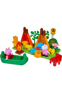 big bouwstenen 'big-bloxx peppa pig camping set', kunststof (25-delig) multicolor