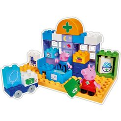 big bouwstenen 'big-bloxx peppa pig medical care case', kunststof (32-delig) multicolor