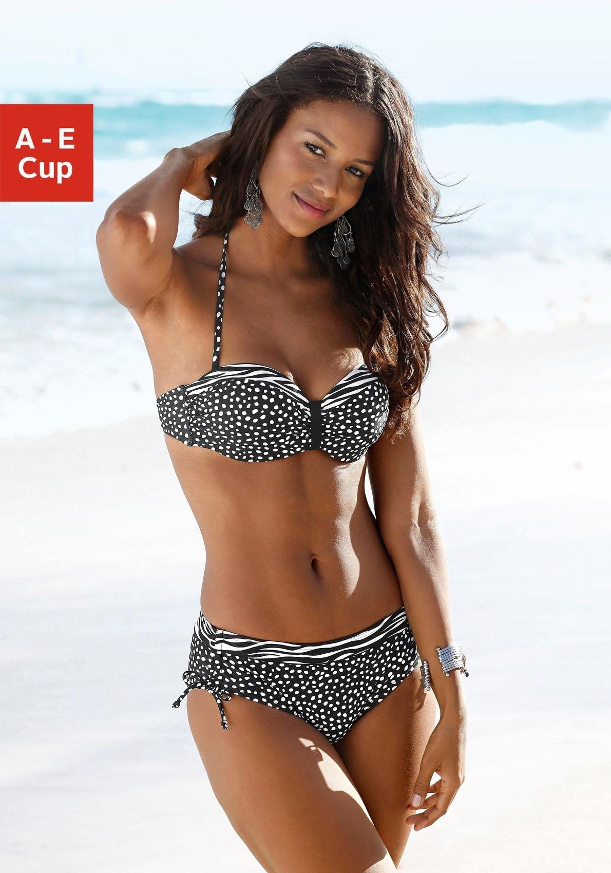 Lascana Bandeau-bikinitop Safari met patroonmix - verschillende betaalmethodes