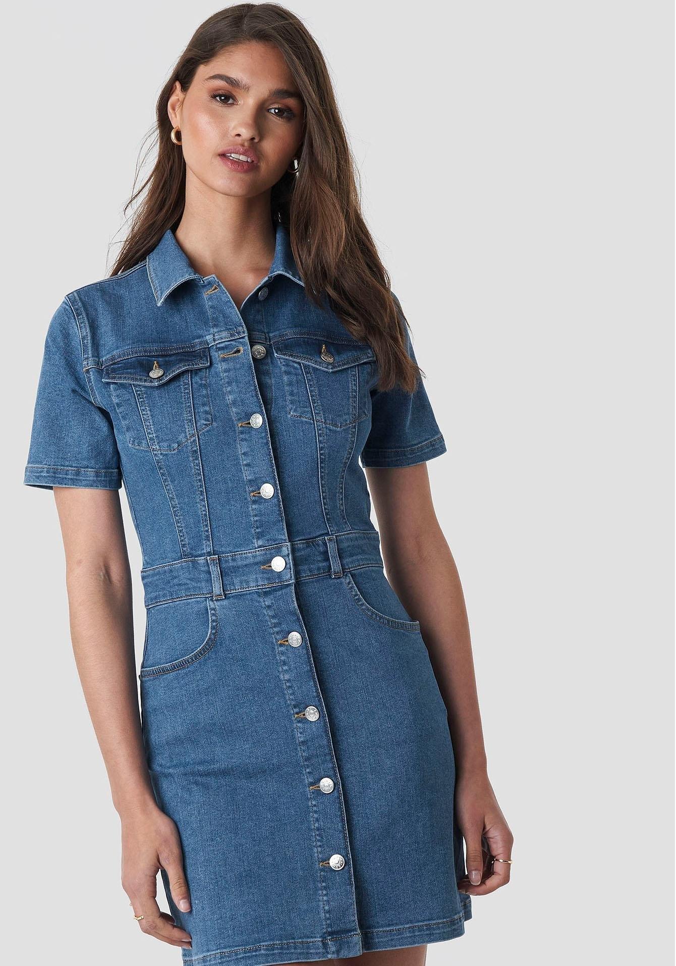 Na-kd jeansjurk »3019« - verschillende betaalmethodes