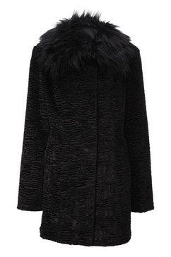 jas van imitatiebont zwart