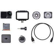 dji action cam osmo action cam digitale actioncam met 2 beeldschermen, 11 m waterdicht, 4k hdr-video, 12mp, 145° hoeklens camera zilver