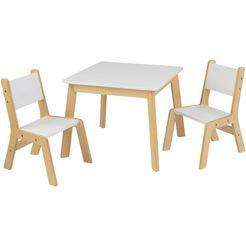 kidkraft kinderzithoek moderne tafel met 2 stoelen (3-delig) wit