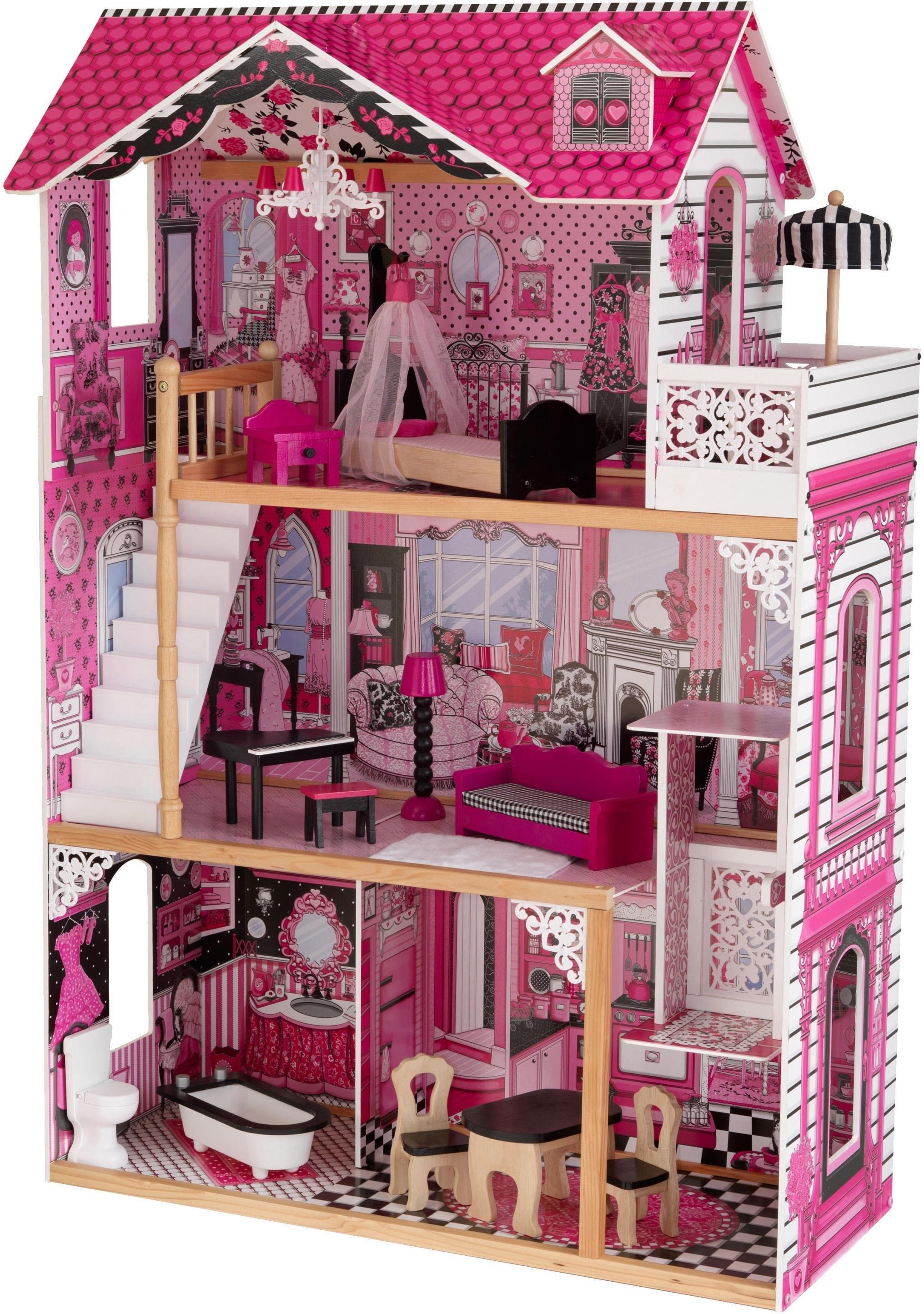 Op zoek naar een KidKraft poppenhuis Amalia 3 verdiepingen, inclusief meubilair? Koop online bij OTTO