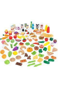 kidkraft speellevensmiddelen set aus kunststoff (115 delig) multicolor